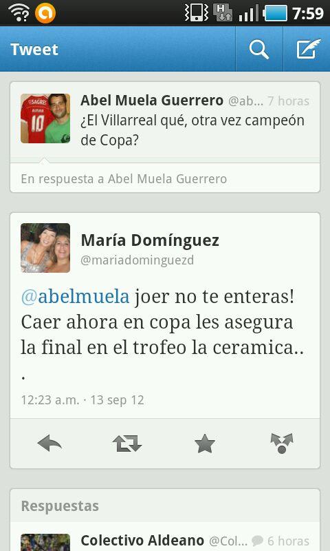 Malestar con Abel Muela y María Domínguez