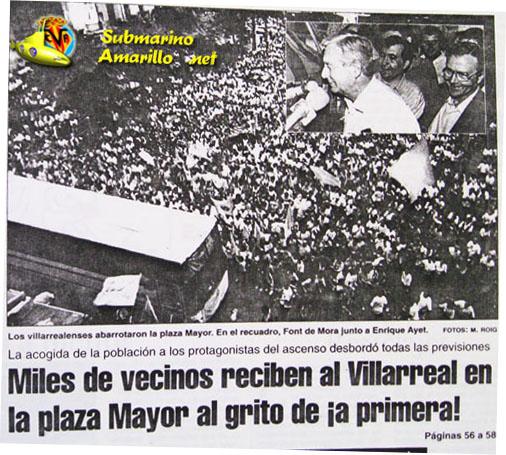 el ascenso en la linea2 - 28-6-1992, ascenso Villarreal: repercusiones de un día grande (y II)