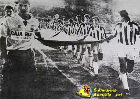 El primer partido de Canal 9 en El Madrigal… (Villarreal-Castellón)