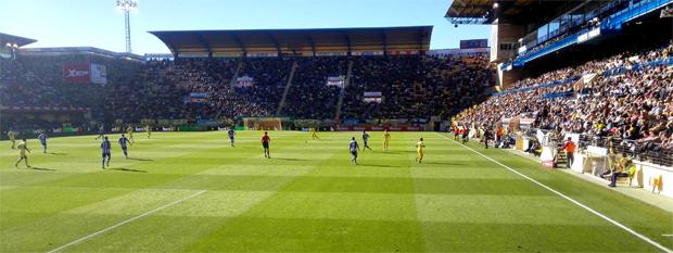 Aspecto de las gradas en el Villarreal-Deportivo de la jornada 17