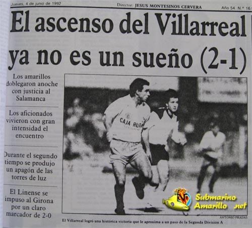 villarreal salamanca portadamediterraneo - El Villarreal y el Salamanca en la promoción de 1992
