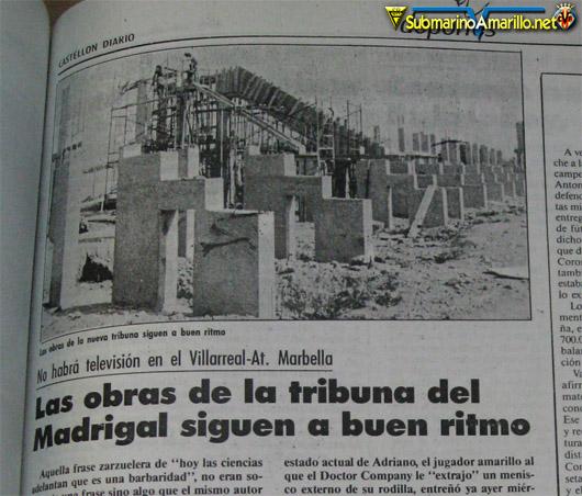castellon diario septiembre 1988 tribuna 1 - Inauguración de una tribuna