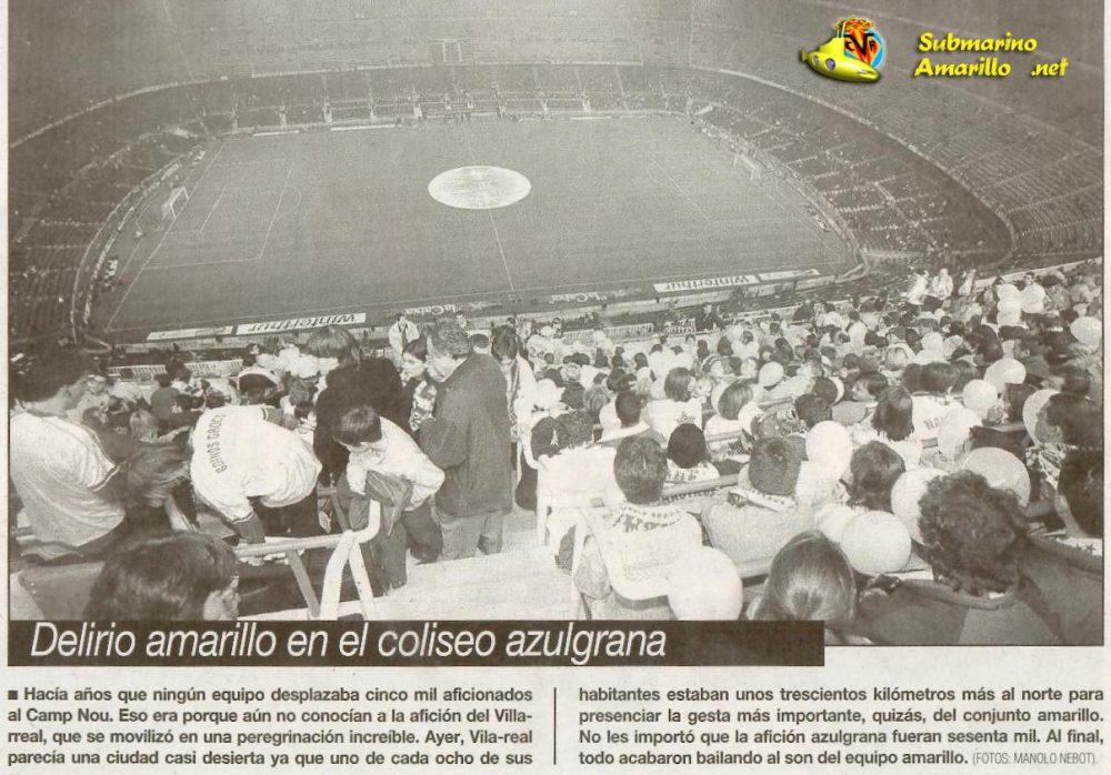 delirio en el campnou logo e1481614406802 - Barcelona 1-Villarreal 3 (98/99)