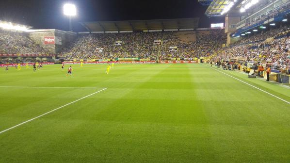 La afición del Villarreal de 10