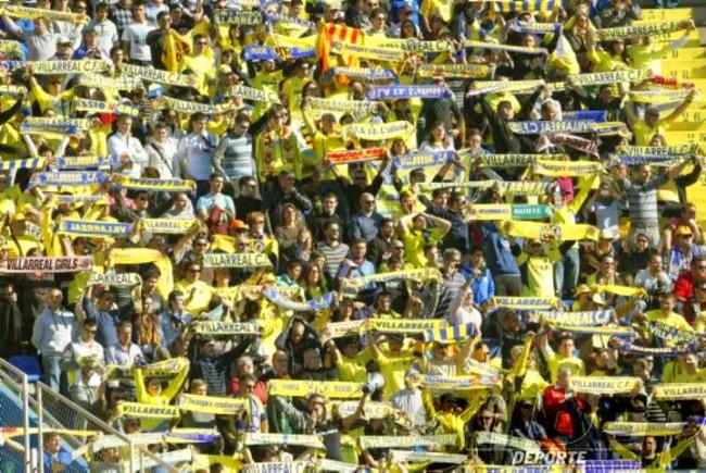 afición del Villarreal en desplazamiento 650x435 - Nuestro sentimiento sin límites por el Villarreal CF