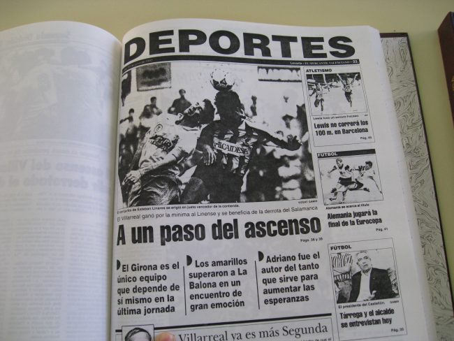 IMG 2006 650x488 - Un 28 de Junio: ascenso del Villarreal CF en La línea