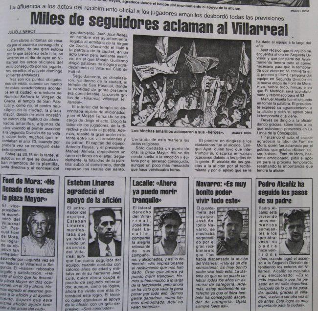 articulo de jj nebot 650x637 - Un 28 de Junio: ascenso del Villarreal CF en La línea