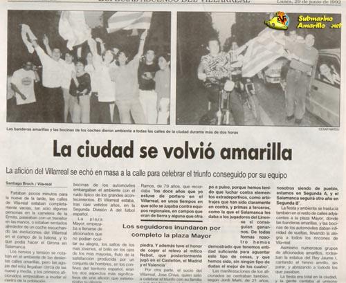 ciutat groga xicotet32 - Un 28 de Junio: ascenso del Villarreal CF en La línea