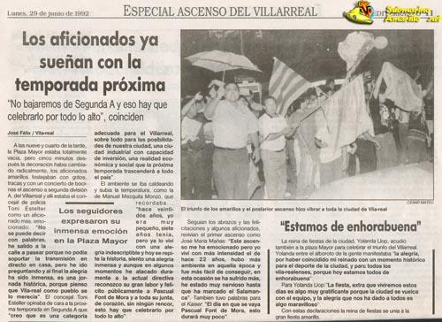 no bajaremos peq32 - Un 28 de Junio: ascenso del Villarreal CF en La línea