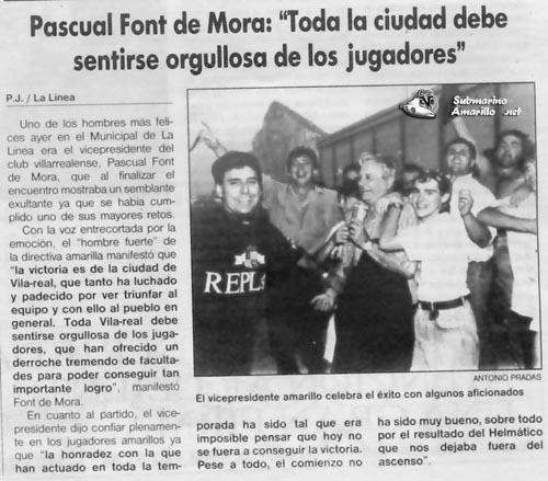 orgullo peq32 - Un 28 de Junio: ascenso del Villarreal CF en La línea