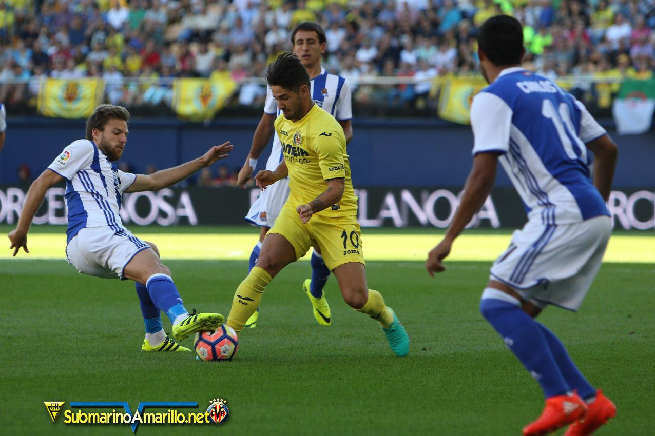 El Villarreal avanza imbatible ante la Real