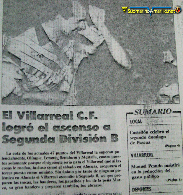 ascenso a segunda b villarreal