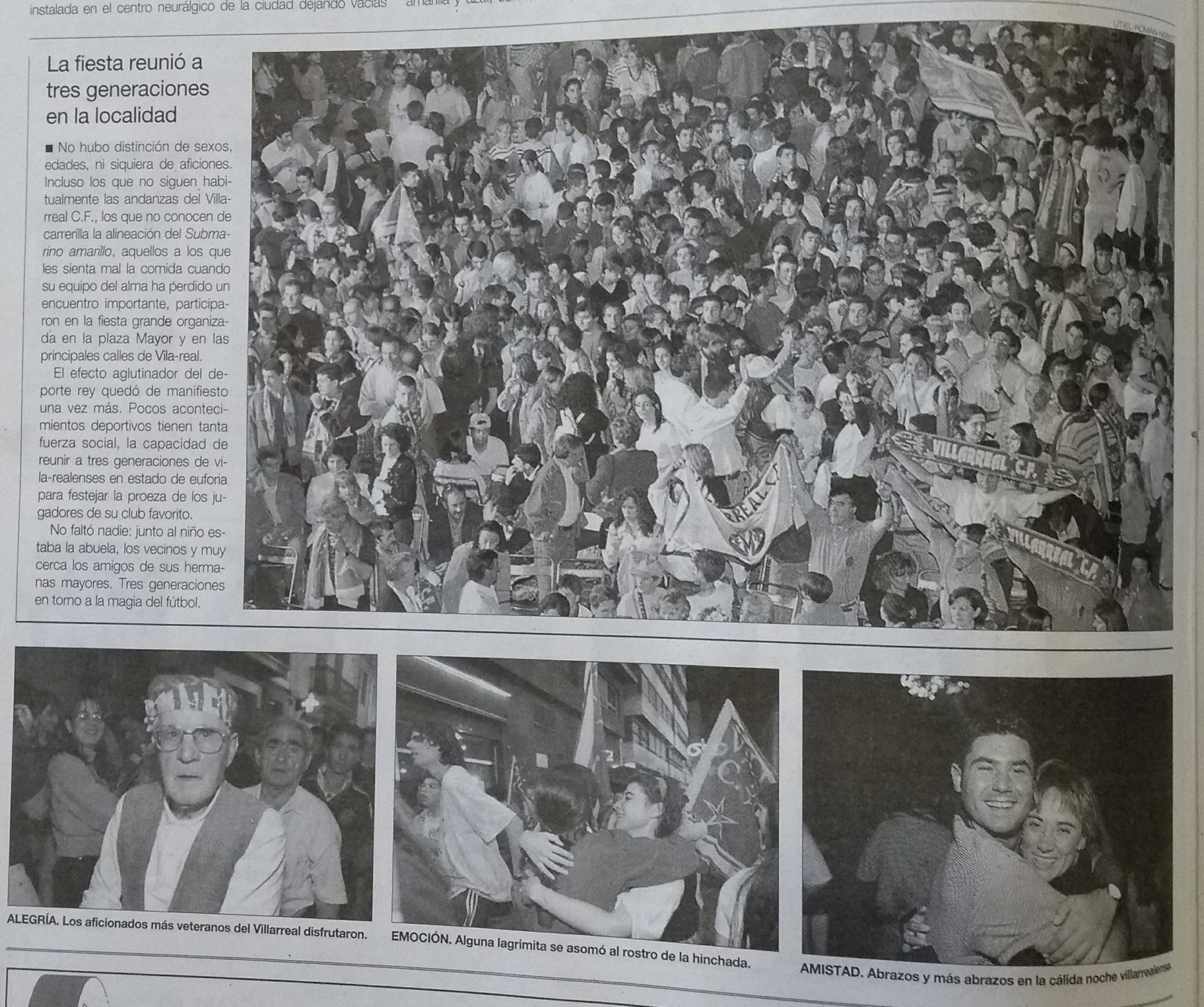 ascenso villarreal 1998 - Se cumplen 20 años de aquel 24 de Mayo...