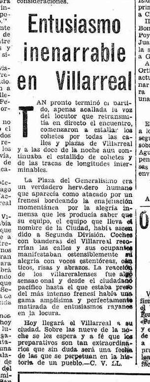 entusiasmoascenso70 - Villarreal CF en los años 60