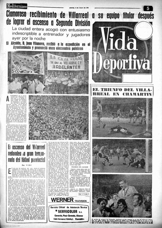 prensa 0102 2 650x910 - Villarreal CF en los años 60