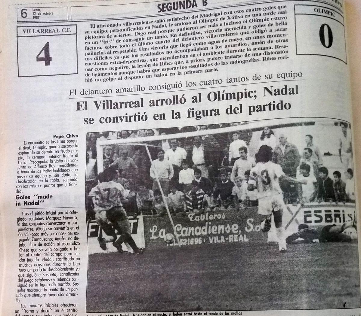 sebastian nadal mejias bufalo olimpic - Noche record para el Villarreal