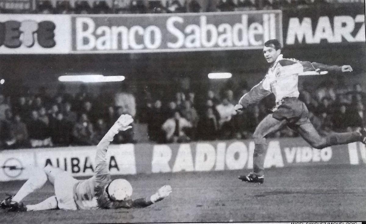 Castellon Villarreal planelles gol - Castellón-Villarreal (8-1-1994)