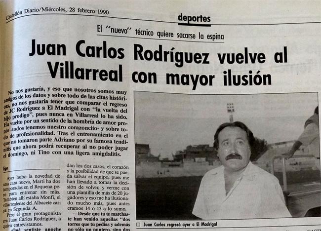 Juan Carlos Rodríguez, el entrenador que fue cesado y recuperado
