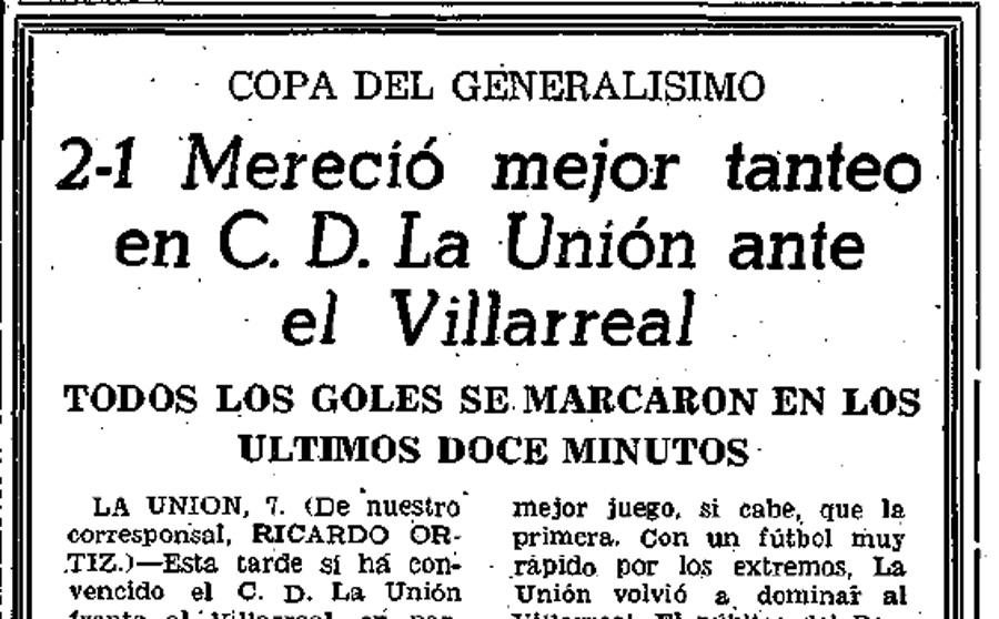 copa generalisimo - Primera eliminatoria de Copa de la historia. Partido de ida.