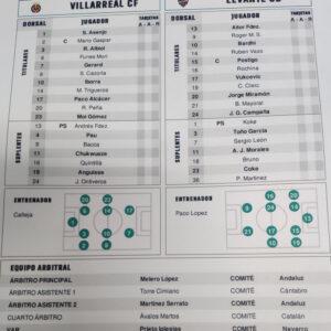 Villarreal-Levante en directo