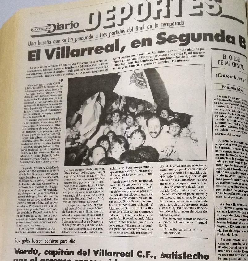 El Villarreal un 26 de abril