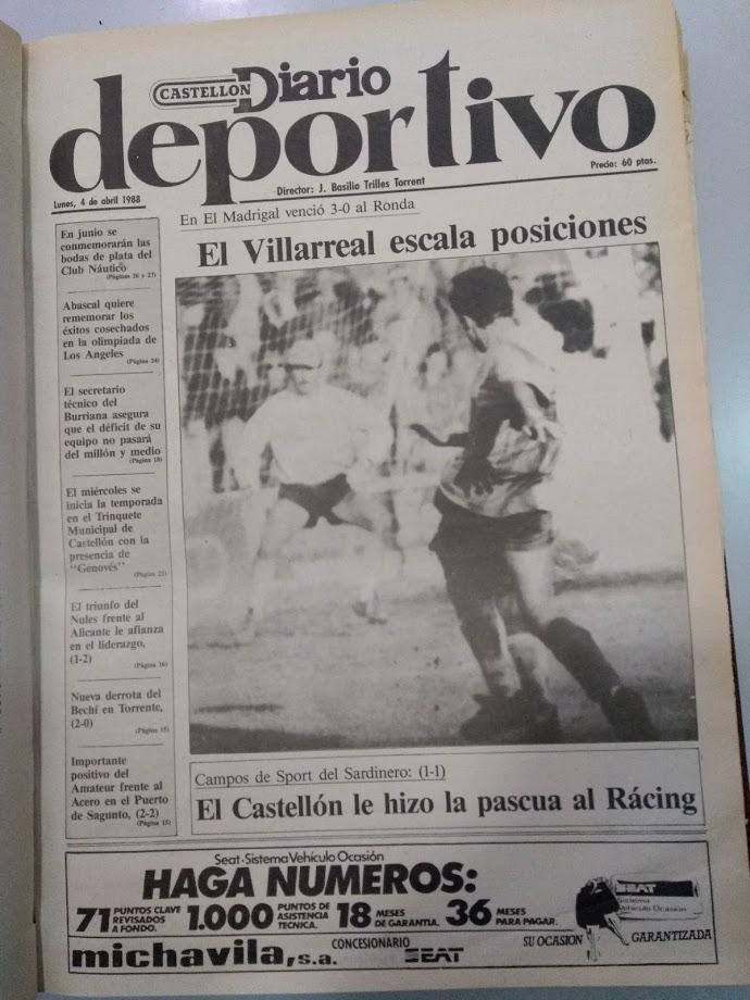 El Villarreal un 3 de Abril