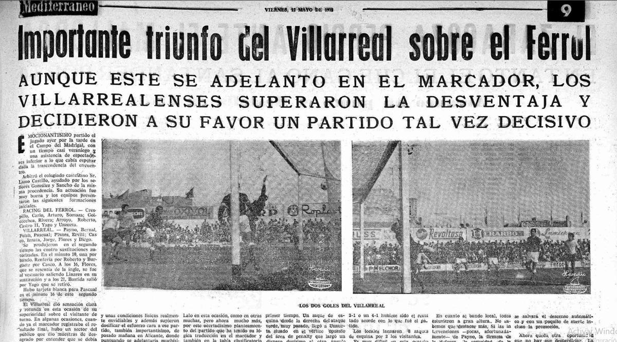 El Villarreal un 11 de mayo