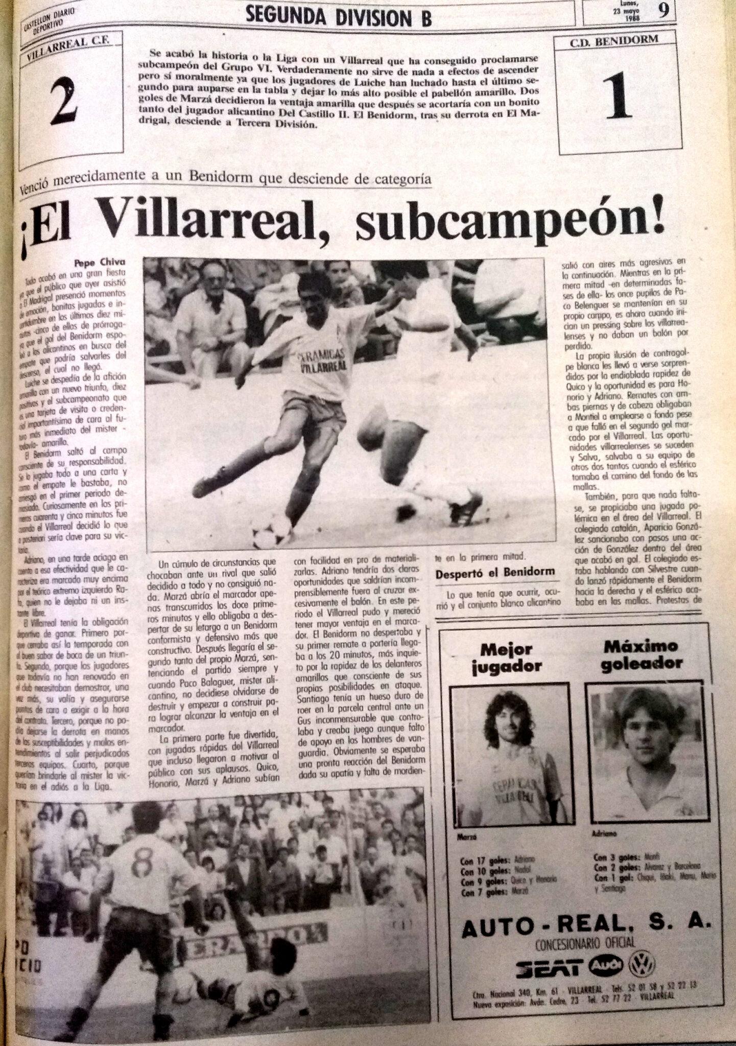El Villarreal un 22 de mayo