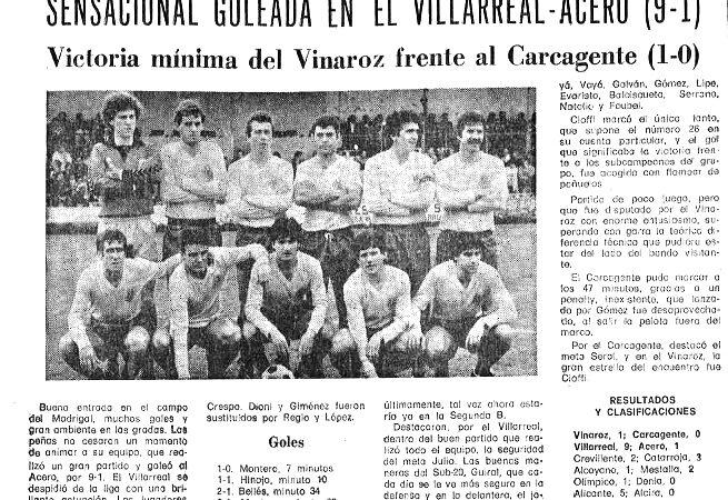 El Villarreal un 25 de mayo