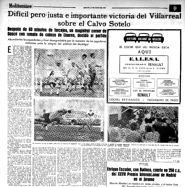 El Villarreal un 30 de mayo