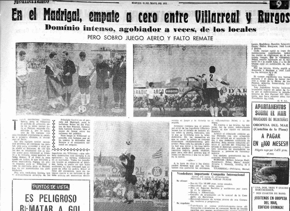 El Villarreal un 16 de mayo