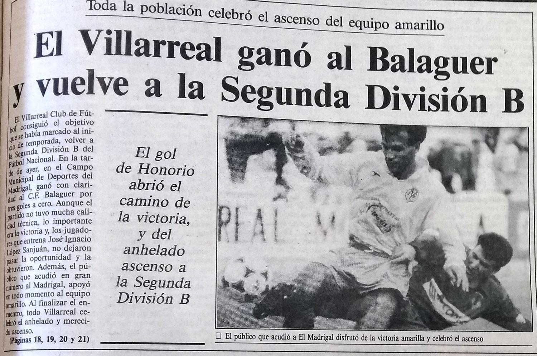 El Villarreal un 16 de junio