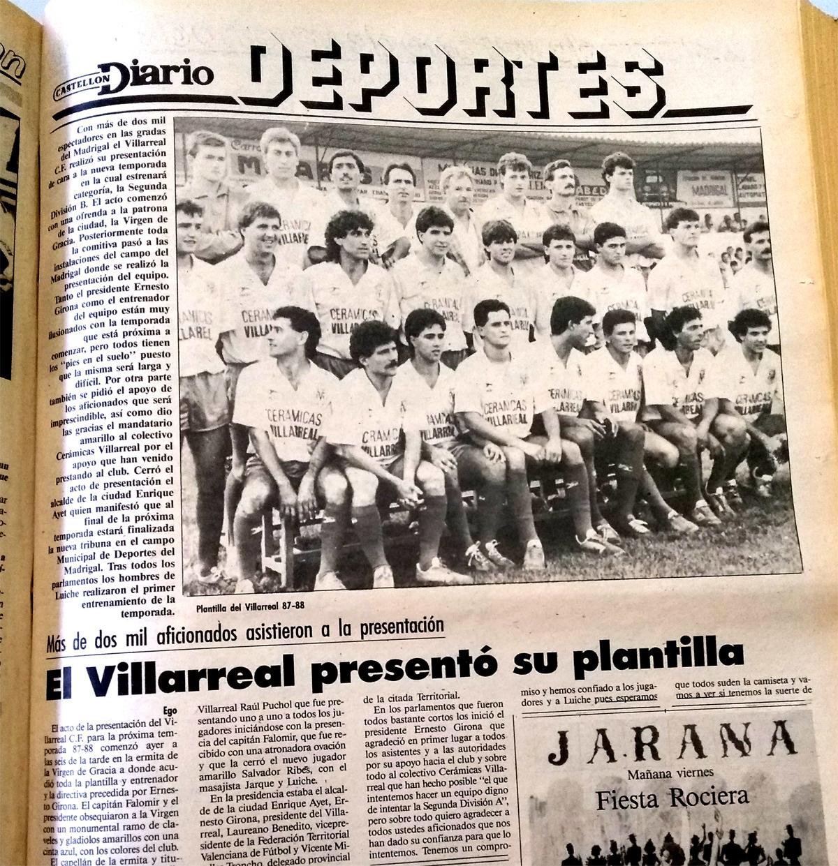 Día de presentaciones. El Villarreal un 22 de julio