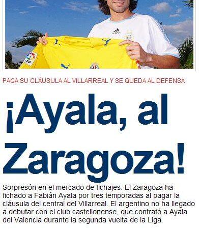 """La """"espantá"""" de Ayala. El Villarreal un 17 de julio"""