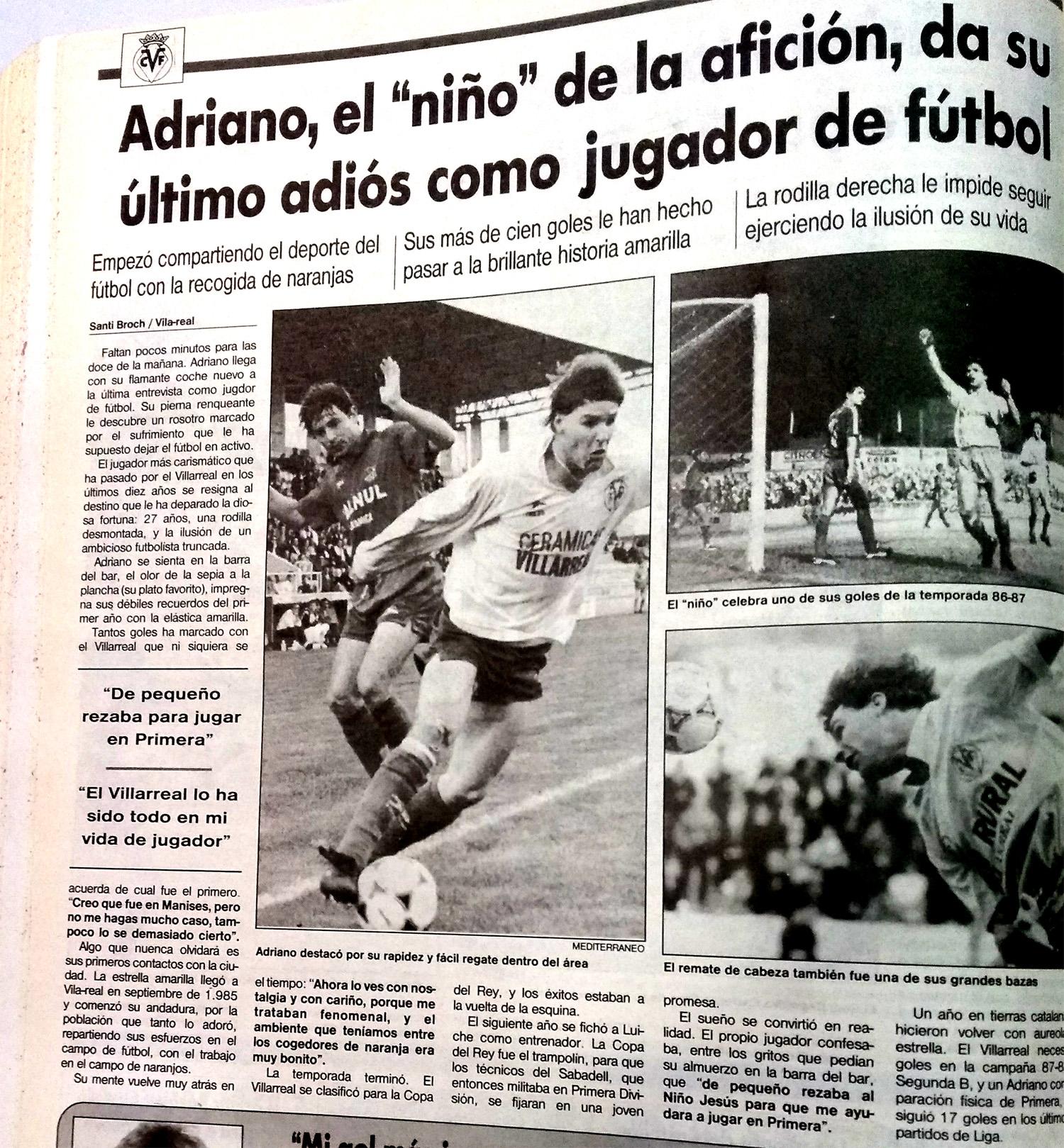 Adriano anuncia su retirada. El Villarreal un 13 de julio