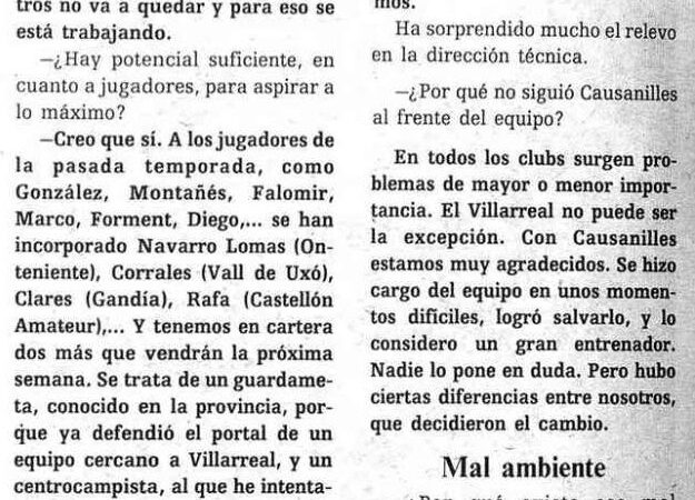 El Villarreal un 29 de julio