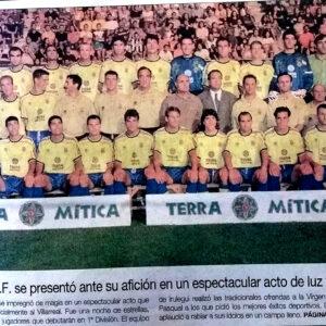 Roig presenta al equipo ante la afición por primera y última vez en Primera. El Villarreal un 5 de agosto