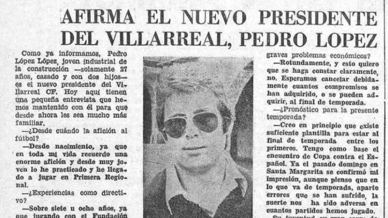 Pedro López al mando. El Villarreal un 23 de septiembre
