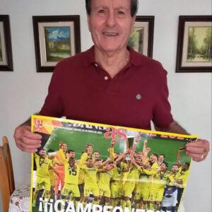 Luiche muestra su júbilo por el éxito del Villarreal
